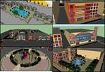 اسکچ-آپ-محله-با-بافت-مسکونی-فرهنگی-و--