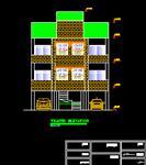 نقشه-اتوکد-بتنی-دو-طبقه-روی-پارکینگ